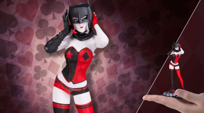 Buy Now Harley Quinn Statue DC Collectibles Red White & Black by John Timms