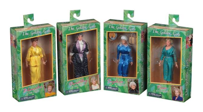 The Golden Girls action figures will be shipping out to retailers on May 13th!