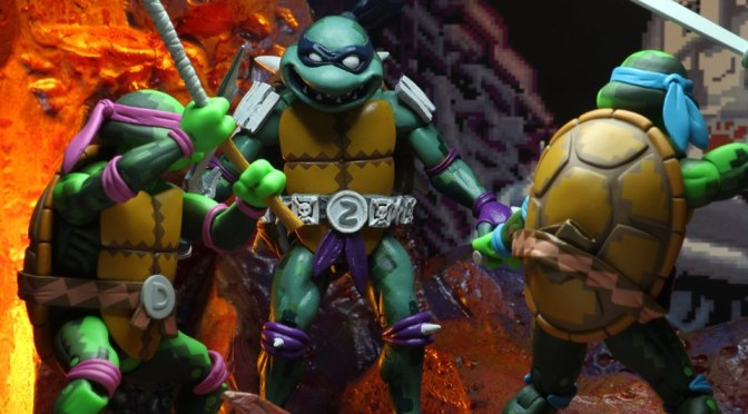 NECA announces more TMNT 1990s Turtles in Time Video Game Figures (Gallery)