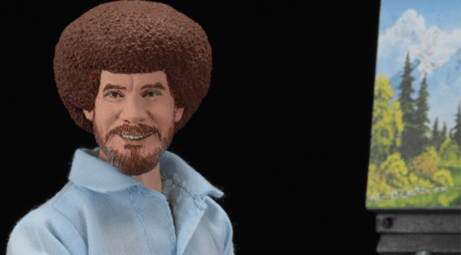 Now available in limited quantities 8″ Cloth #BobRoss Action Figure!