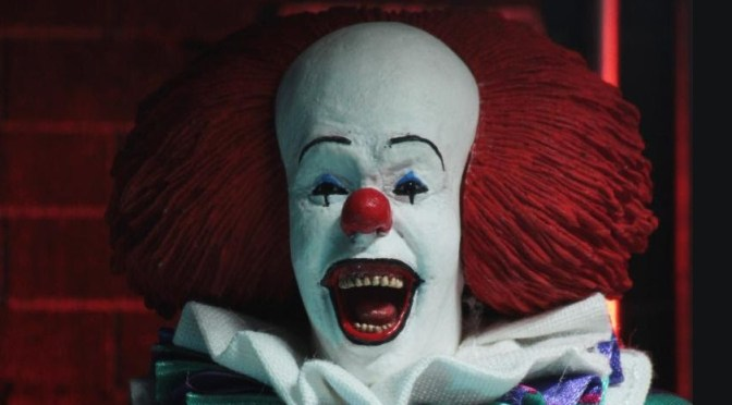 NECA 8″ Cloth Pennywise from 1990 IT will be shipping to retailers on January 15th