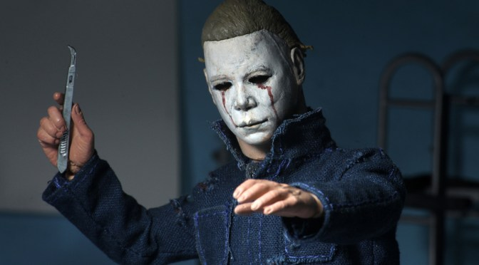 Here are the official final packaging photos of the Halloween 2 – 8″ Clothed Action Figure – Michael Myers