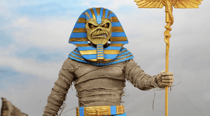 Now available in limited quantities is the Iron Maiden– 8″ Clothed Action Figure – Pharaoh Eddie!