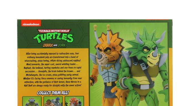 Final packaging photos of NECA's upcoming Cartoon Teenage Mutant Ninja Turtles Wave 4