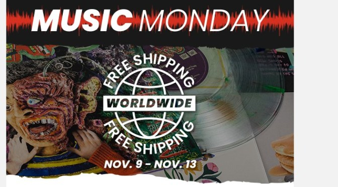 New Music Wednesday: FREE WORLDWIDE SHIPPING on all vinyl