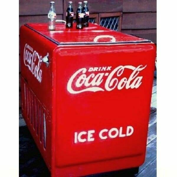 Coca-Cola 1930s Westinghouse Cooler side view