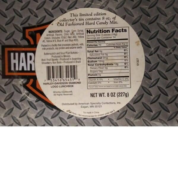 Harley-Davidson Lunch Box back view