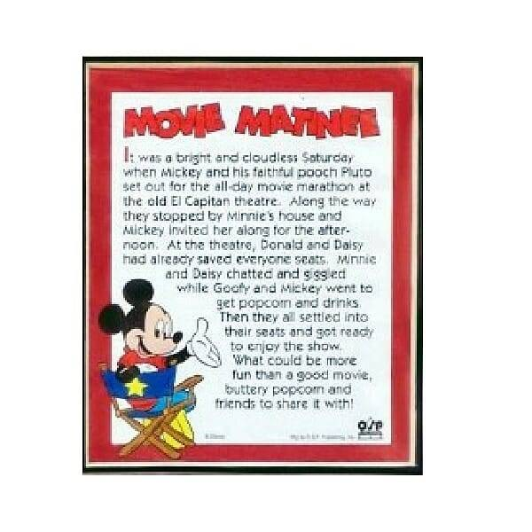 Mickey Mouse Lithograph movie matinee close up