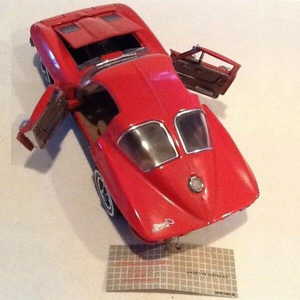 Red 1963 Stingray Corvette