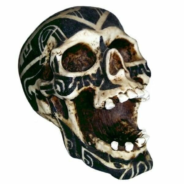 Tribal Open-Mouth Skull