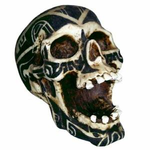 Resin Skull With Tattoos
