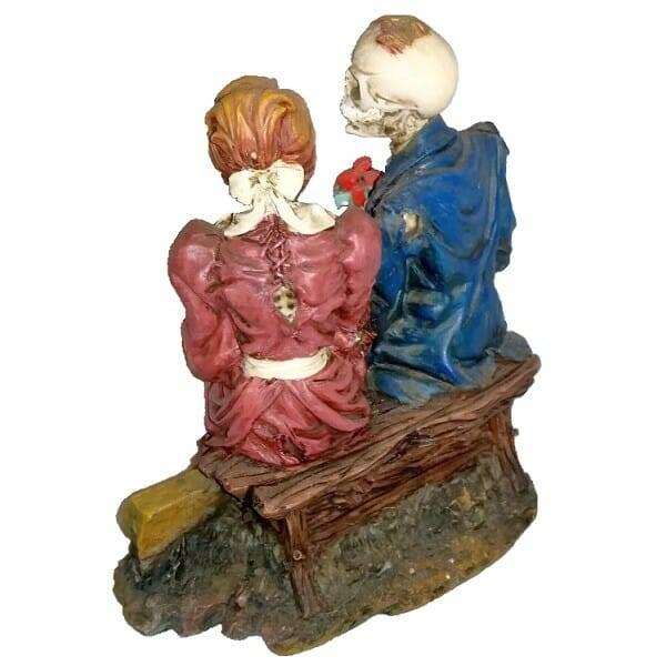 Skeleton Couple Special Occasion Figurine back view