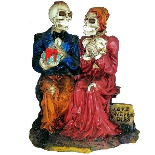 Skeleton Couple Special Occasion Figurine