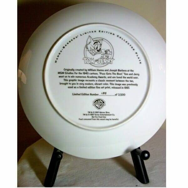 Tom and Jerry Plate back side view