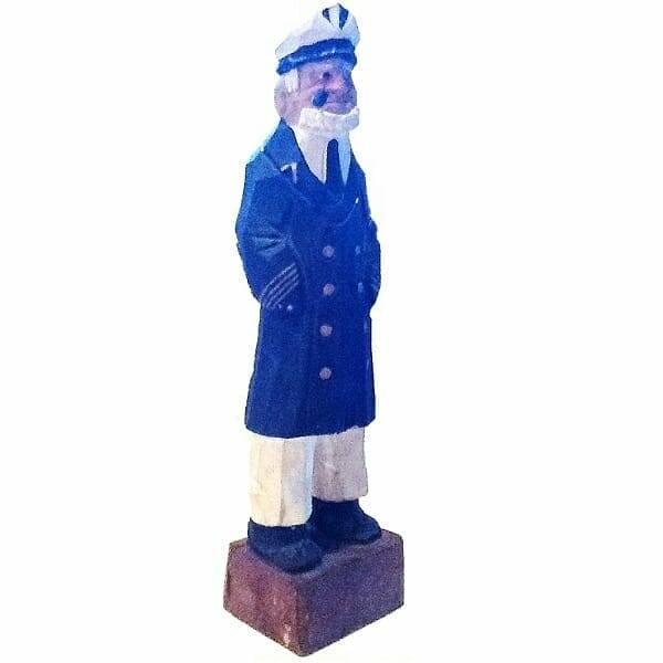 Wood Sailor Captain Figurine side view 1