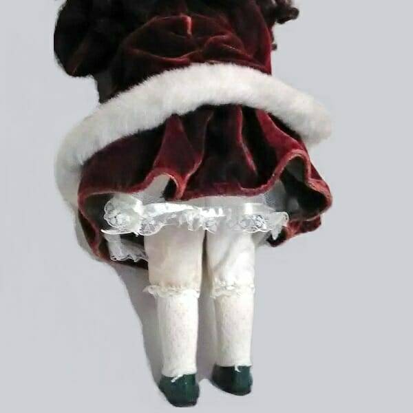 Pretty Holiday Doll back view