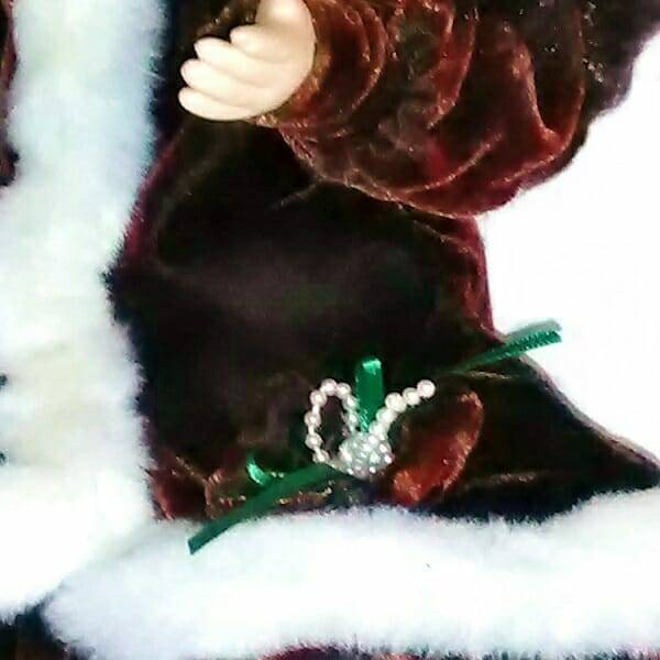 Christmas Holiday Doll body close up