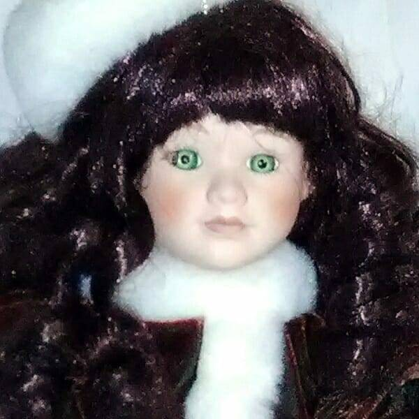 Pretty Holiday Doll face close up