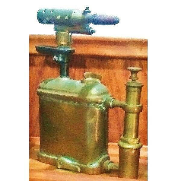 Flat Brass Blow Torch side 3 view