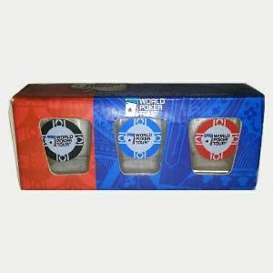 3 Poker Tour Shot Glasses