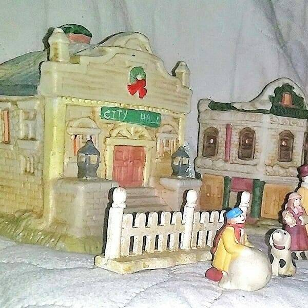 60s Ceramic Holiday Villiage pic 2