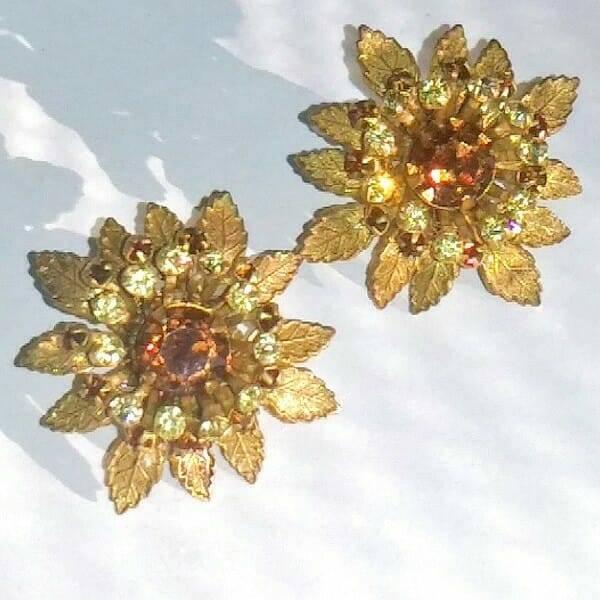 40s Miriam Haskell Earrings