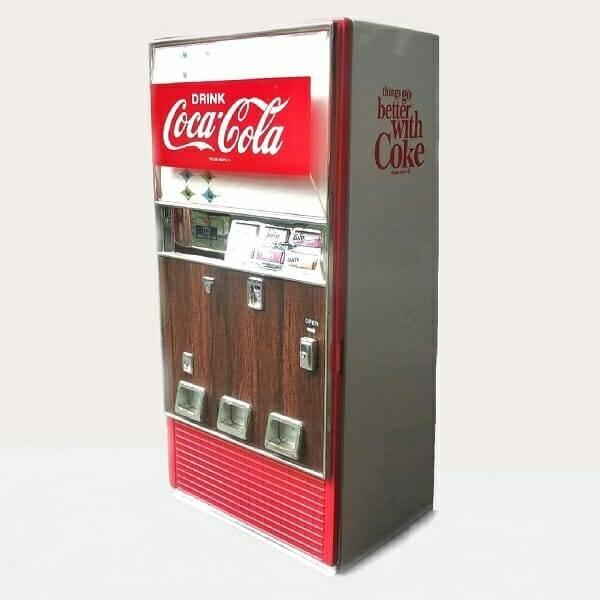 Coke Mini Music Vending Machine side view