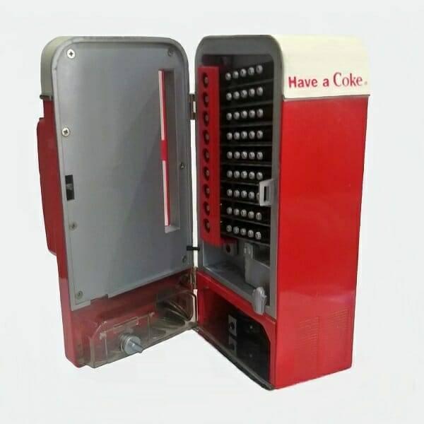 Coke Music Vending Machine open view