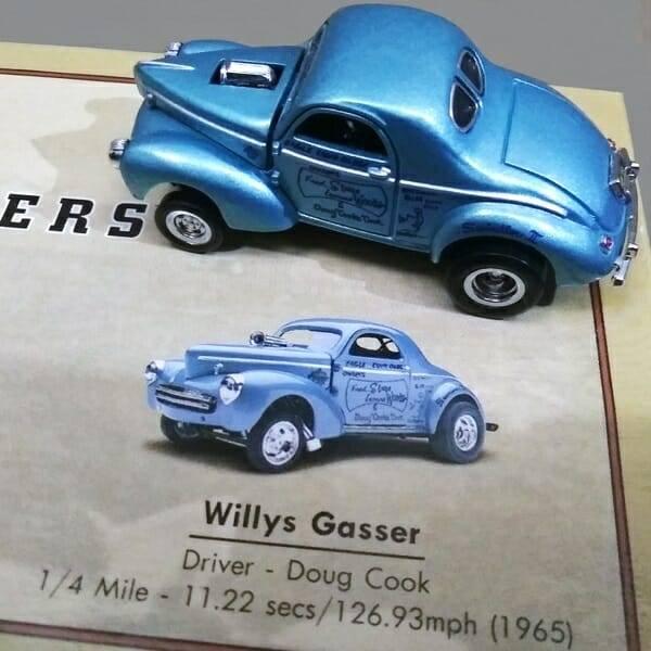 Hot Wheels Vintage Legends Set Willys Gasser