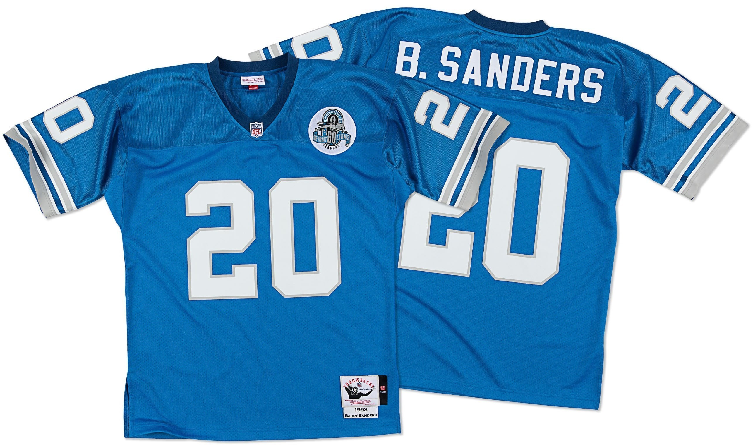 Barry Sanders Youth Football Jersey S