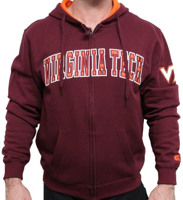 Virginia Tech Hokies 2012 Maroon Automatic Full Zip Hooded