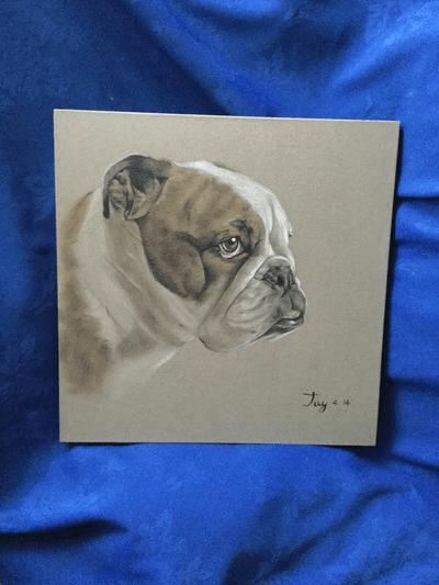 Bulldog antiques Scruffy Louise by pipi jay