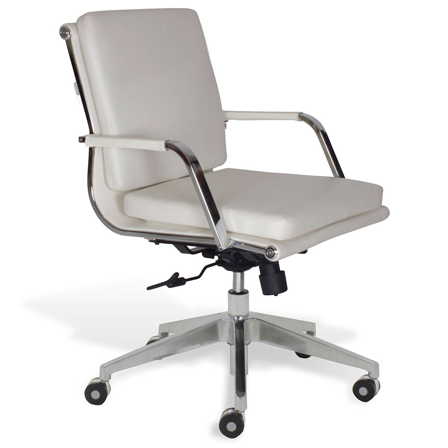 Low Back Office Chair Greta Low Back Office Chair White