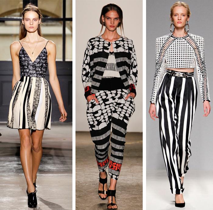 Balenciaga - Zero Maria Cornejo - Balmain - Spring 2013 - Stripes