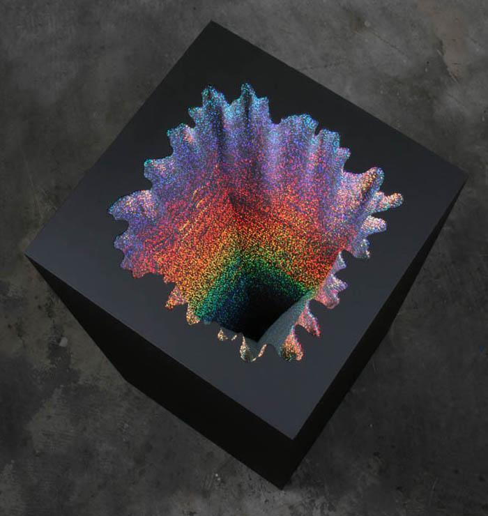Jen Stark - Holographic Square