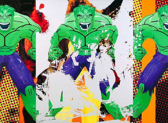 Jeff Koons -Triple Hulk Elvis I - 2007