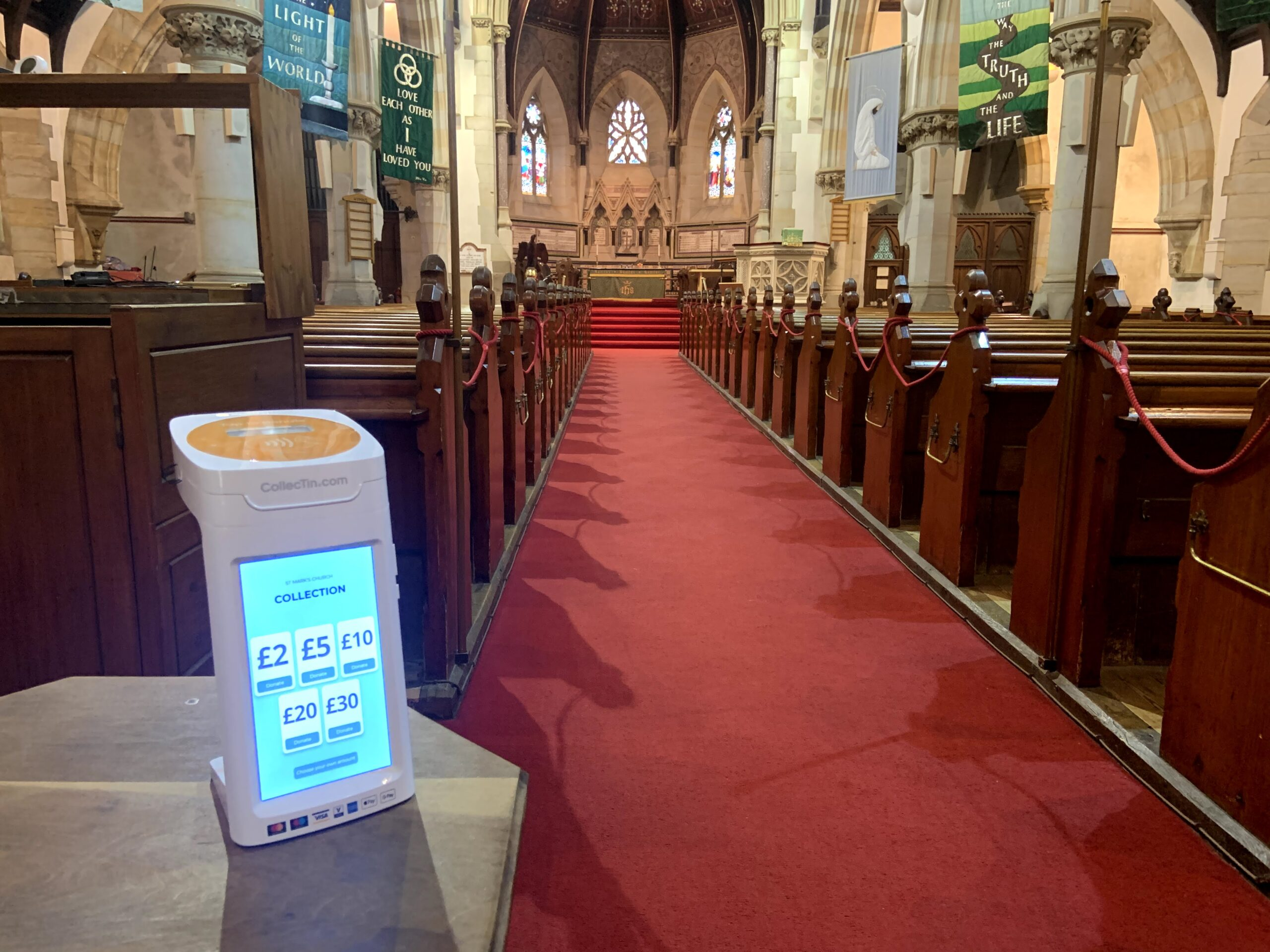Contactless CollecTin More in Church