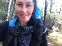Hiking the Lakeside Track along Lake Rotoiti.