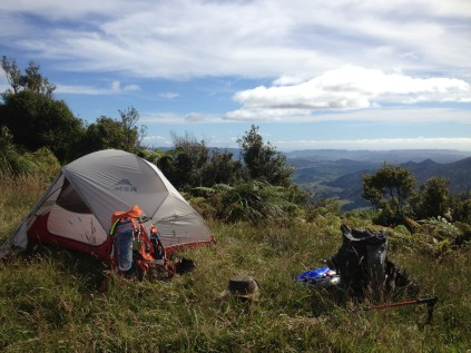 Camping middway through the Raetea Forest.