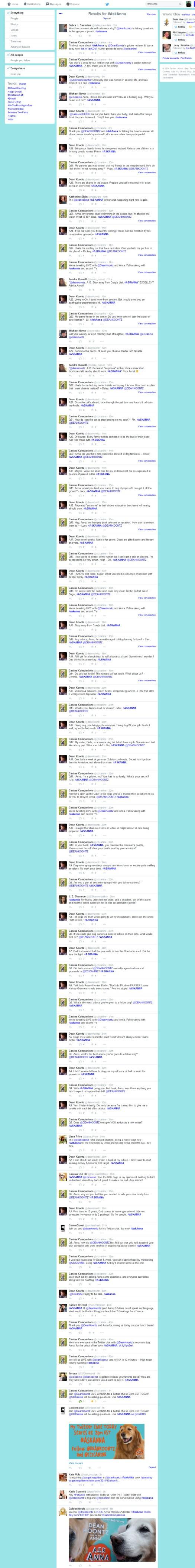 2014.10.23 AskAnna Twitter Chat