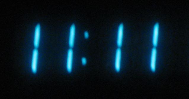 11:11 on a digital clock
