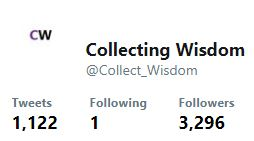 Collecting Wisdom Twitter account