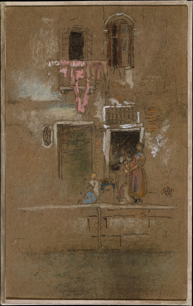 James Mcneill Whistler Note In Pink And Brown American