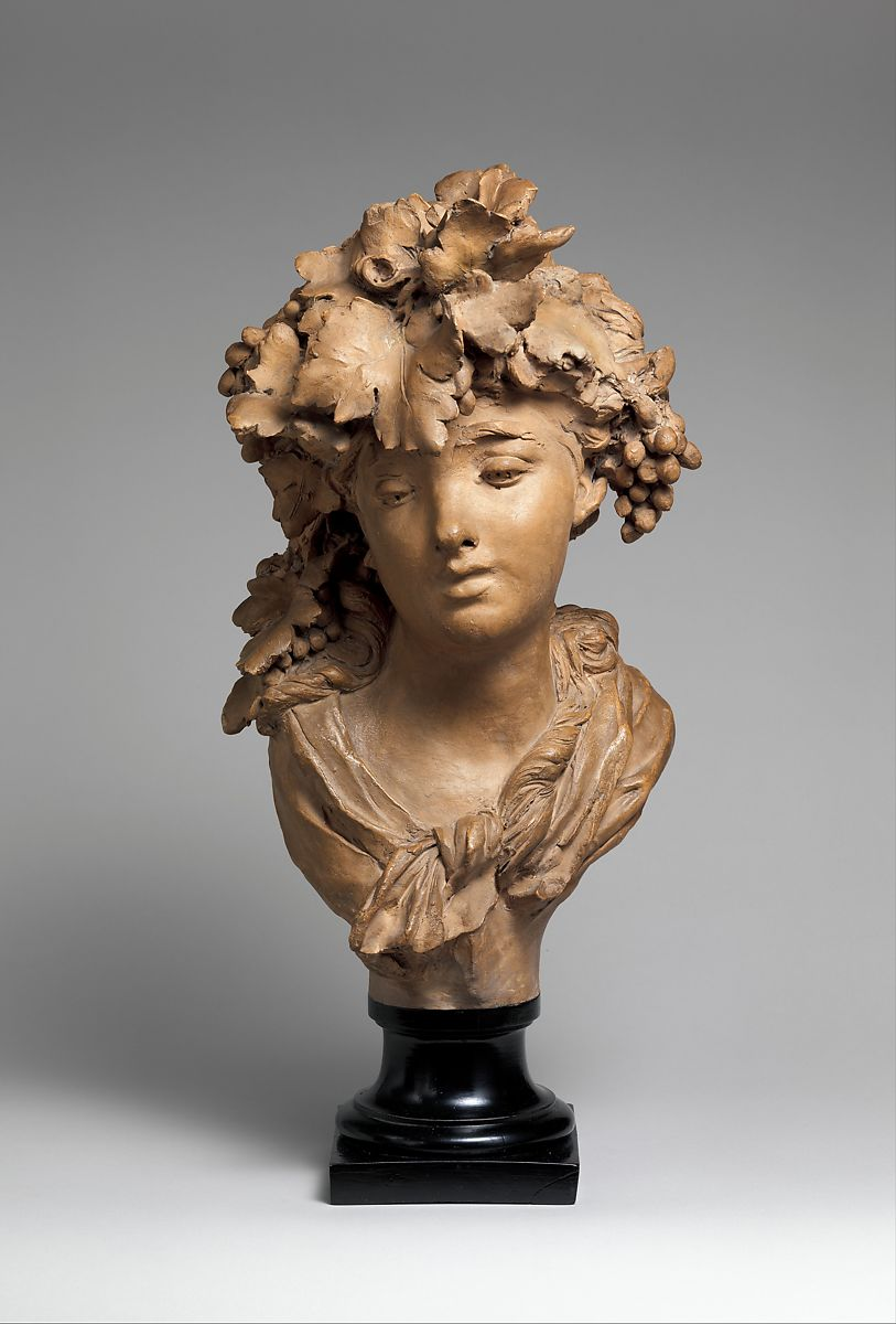 Auguste Rodin Bacchante Grapes Or Autumn French
