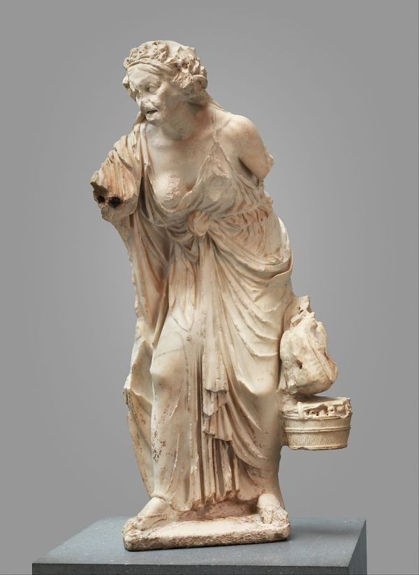 Marble Statue Of Woman Roman Early Imperial