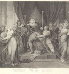 king lear casting out his daughter cordelia shakespeare king lear act 1 scene 1 first published 1792 reissued 1852 [ 1200 x 955 Pixel ]