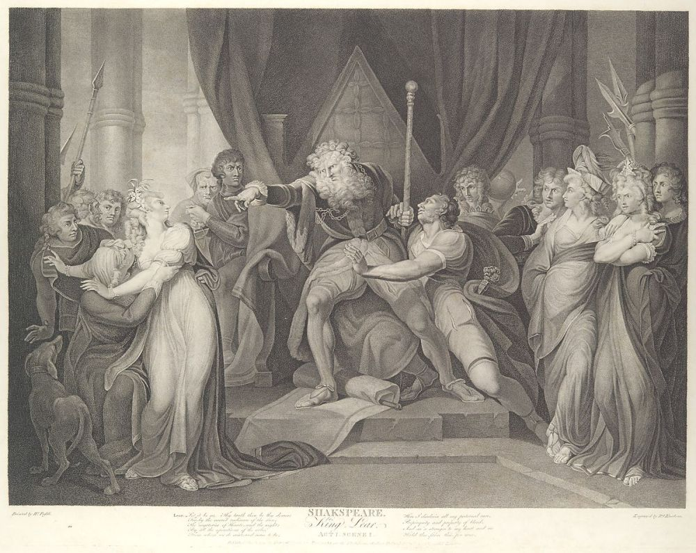 medium resolution of king lear casting out his daughter cordelia shakespeare king lear act 1 scene 1 first published 1792 reissued 1852