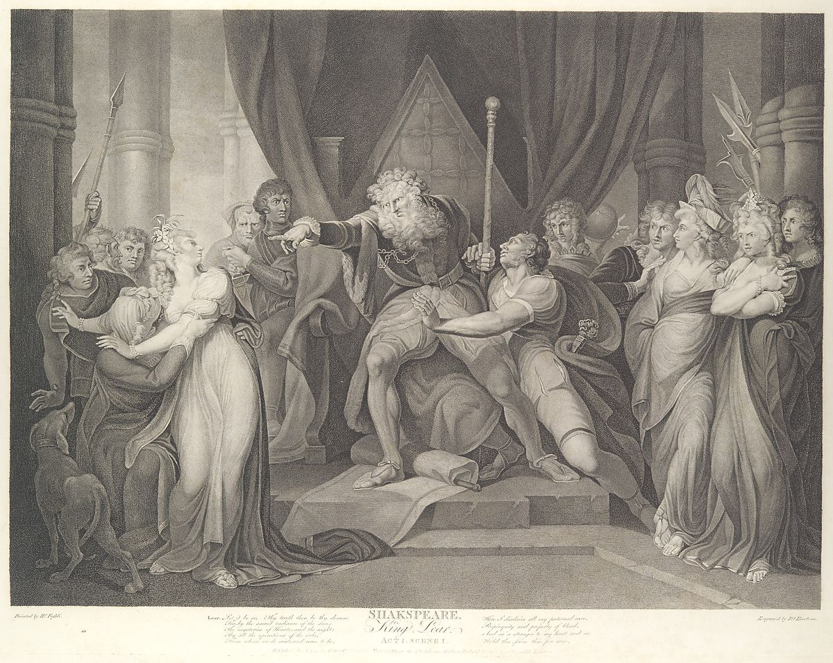 hight resolution of king lear casting out his daughter cordelia shakespeare king lear act 1 scene 1 first published 1792 reissued 1852