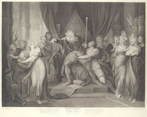 small resolution of king lear casting out his daughter cordelia shakespeare king lear act 1 scene 1 first published 1792 reissued 1852