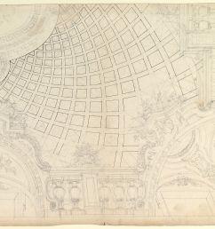 design of a quarter of cupola anonymous italian piedmontese 18th century  [ 1200 x 867 Pixel ]